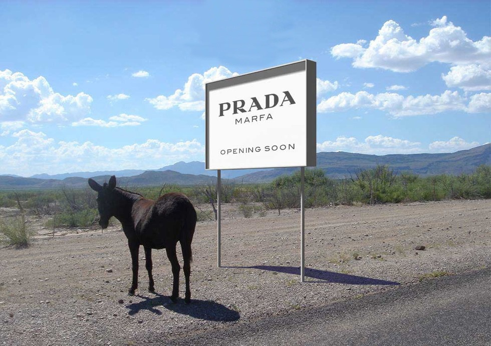 prada store in the middle of nowhere